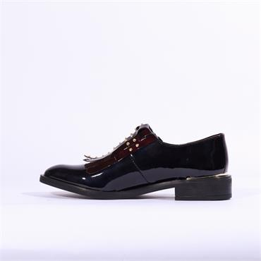 Marroqui Sanchez Stud Tassel Loafer Nery - Wine Patent