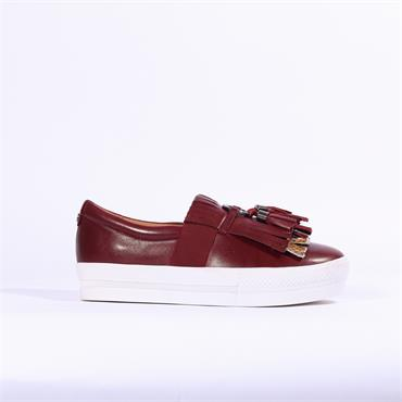 Moda In Pelle Ardena Apron Front Shoe - Burgundy Leather