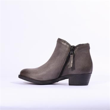 Moda In Pelle Better Low Heel Ankle Boot - Grey Leather