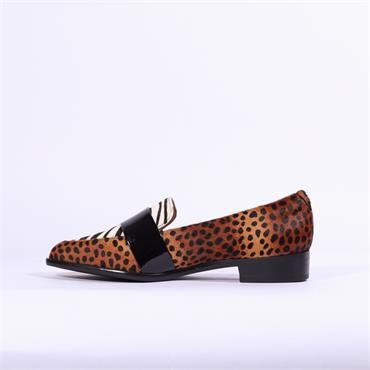 Moda In Pelle Felicitie Loafer With Band - Leopard Combi