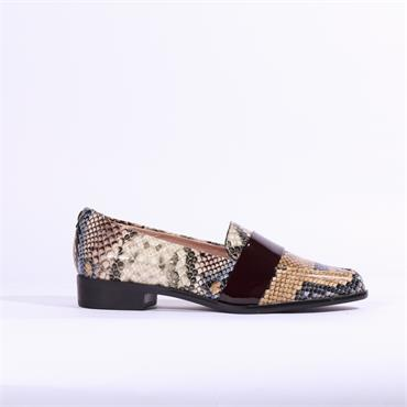 Moda In Pelle Felicitie Loafer With Band - Snake Combi