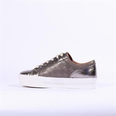 Moda In Pelle Fiarni Leather Trainer - Metallic Grey