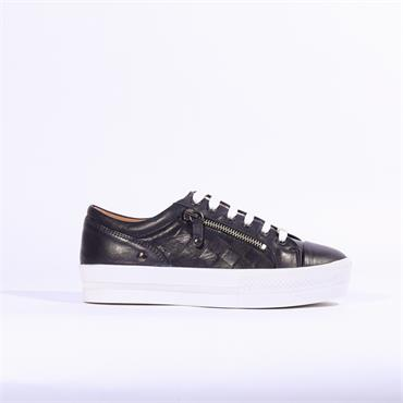 Moda In Pelle Fiarni Leather Trainer - Navy Leather