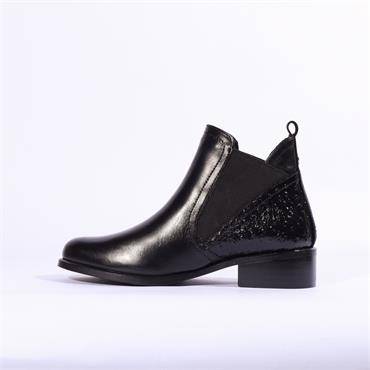 Moda In Pelle Kico Flat Ankle Boot - Black Combi