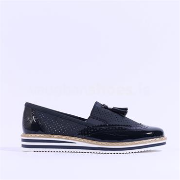 Rieker Slip On Loafer New York - Navy
