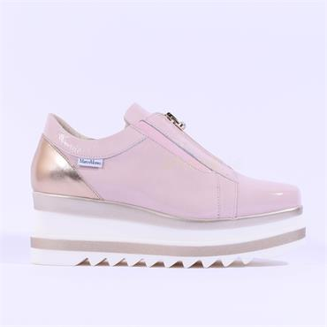 Marco Moreo Patent Front Zip Luna - Pink Patent