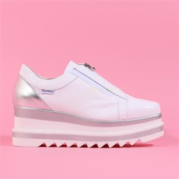 Marco Moreo Patent Front Zip Luna - White Patent
