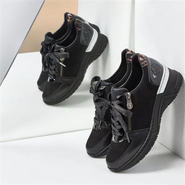 Rieker Cristallino Wedge Trainer - Black Combi