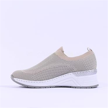Rieker Trainer Knitted Upper - Beige