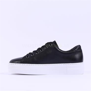 Rieker Laced Platform Side Zip Samti - Black