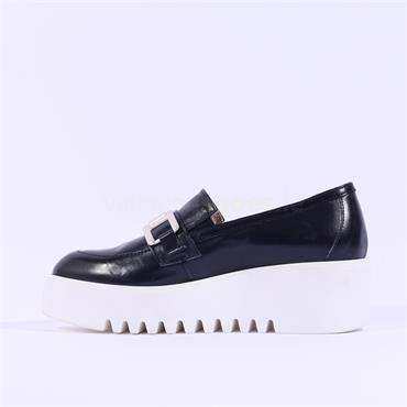 Marco Moreo Slip On Link Platform Laurie - Navy Leather