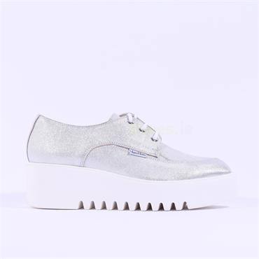 Marco Moreo Laced Platform Laurie - Silver Combi