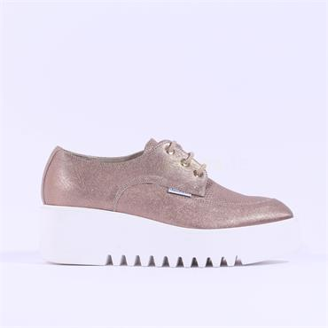 Marco Moreo Laced Platform Laurie - Bronze Leather