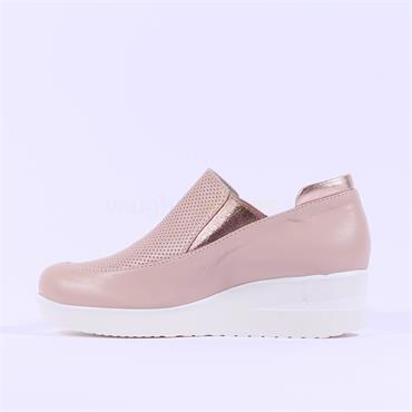 Marco Moreo Slip On Wedge Lola - Nude Leather