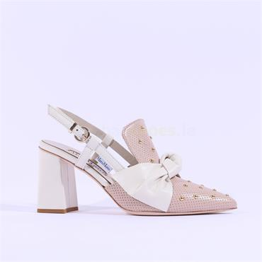 Marco Moreo Pointed Toe Bow Marzia - Nude Cream