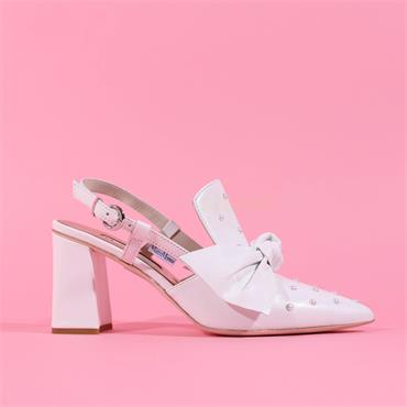 Marco Moreo Pointed Toe Bow Marzia - White Leather