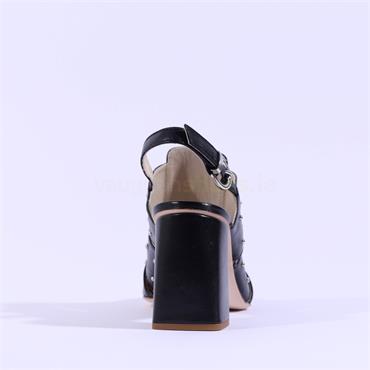 Marco Moreo Stud Pointed Toe Heel Marzia - Black Leather