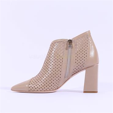 Marco Moreo Point Toe Perforated Marzia - Taupe Leather