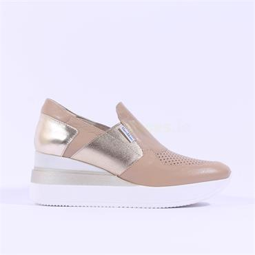 Marco Moreo Slip On Wedge Gianna - Beige Gold