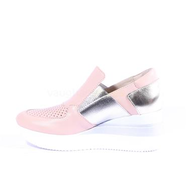 Marco Moreo Slip On Wedge Gianna - Pink Silver