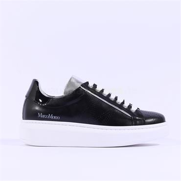 Marco Moreo Chunky Lace Trainer Eros - Black Leather