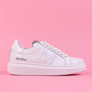 Marco Moreo Chunky Lace Trainer Eros - White Leather