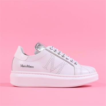 Marco Moreo Chunky Lace Trainer Eros - White Print Laces