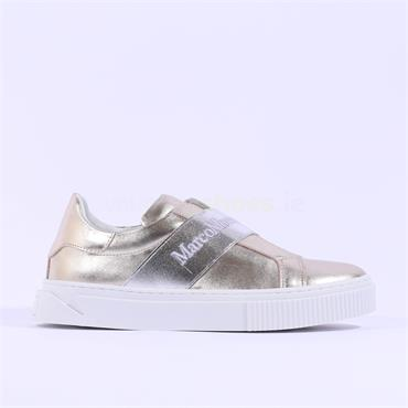 Marco Moreo Slip On Band Trainer Diana - Metallic Leather