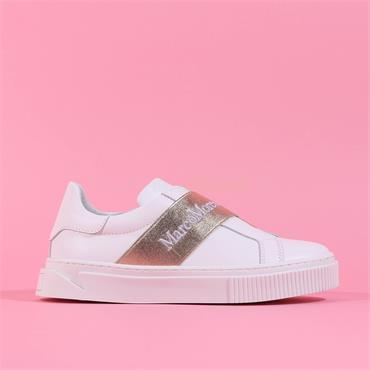 Marco Moreo Slip On Band Trainer Diana - White Gold Leather