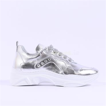 Marco Moreo Laced Chunky Trainer Martina - Silver
