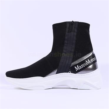Marco Moreo Chunky Sock Trainer Martina - Black Fabric