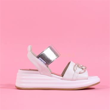 Marco Moreo Chain Detail Sandal Jaja - White Silver