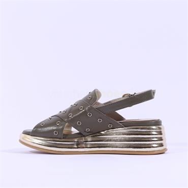 Marco Moreo Ring Sling Back Sandal Jaja - Khaki Leather
