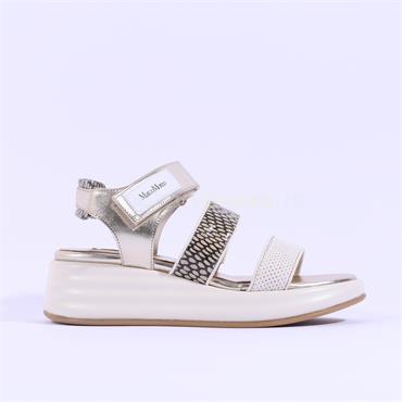 Marco Moreo Platform Strappy Sandal Jaja - Metallic Combi
