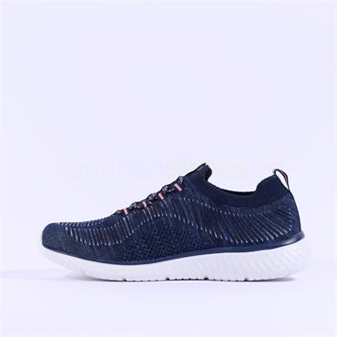 Rieker Knitted Slip On Trainer - Navy Silver
