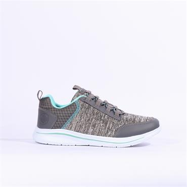 Rieker Elasticated Slip On Trainer - Grey Combi