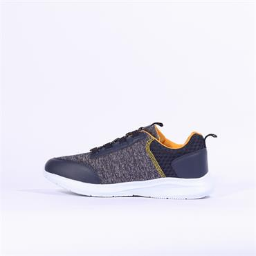 Rieker Elasticated Slip On Trainer - Navy Combi