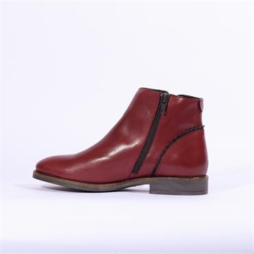 Nano Low Ankle Boot Trim Heel - Red