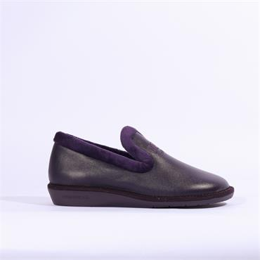 Nordikas Womens Leather House Slipper - Purple