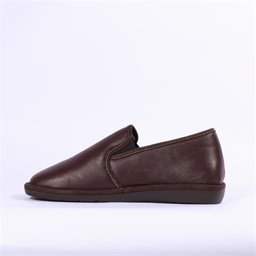 Nordikas Mens Leather House Slipper - Burgundy