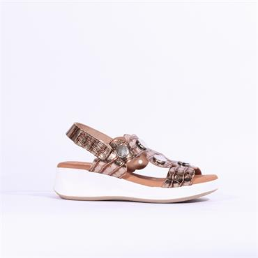 Oh My Sandals Wedge Disc Details - Bronze