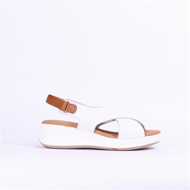 Oh My Sandals Cris Cross Wedge - White