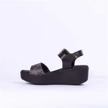 Oh My Sandals Platfrom Wedge Strap - Black Combi