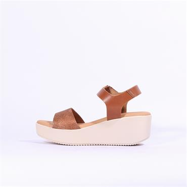 Oh My Sandals Platfrom Wedge Strap - Tan Combi