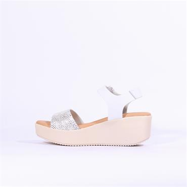Oh My Sandals Platfrom Wedge Strap - White Combi