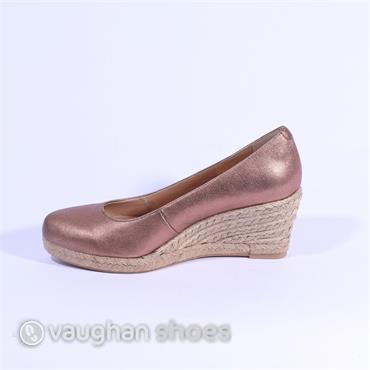 4b36c13128b ... Pedro Anton Lower Espadrille Wedge - Bronze Leather