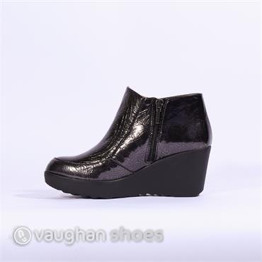 8d172b071a8 ... Pedro Anton Wedge Boot With Side Zip - Dark Grey