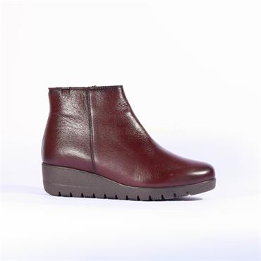 Pepe Menargues Platform Wedge Boot - Burgundy Leather