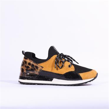 Remonte Morelia Laced Trainer - Yellow Combi