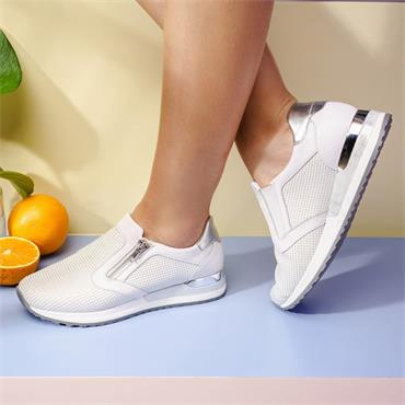 Remonte Trainer With Side Zip - White Combi